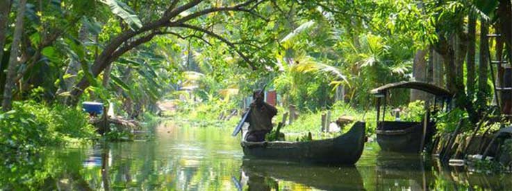 Les incroyables Backwaters au Kerala