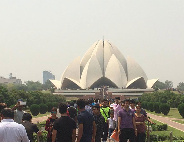 Visite du Lotus Temple de New Delhi